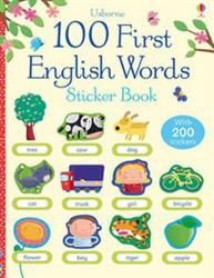 Picture of 100 First English Words Sticker Book
