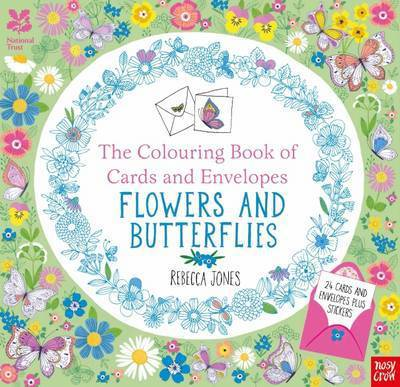 Picture of Colouring Book of Cards and Envelopes Flowers and Butterflie